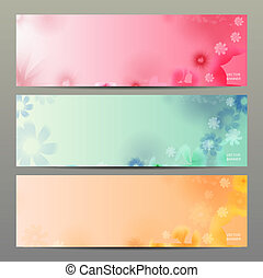 Abstract Flower Vector Background Brochure Template Banner...