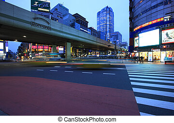 Evening View of Roppongi crossing