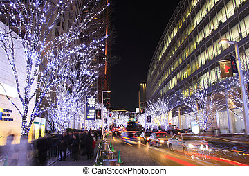 Christmas illuminations of Roppongi