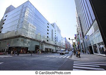 Cityscape of the Chuo-Tori Ginza