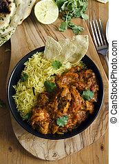 Jalfrezi with rice - Jalfrezi Indian chicken curry with...