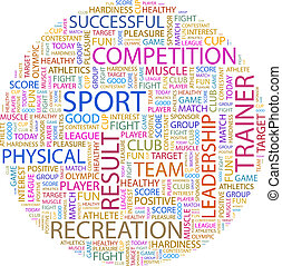 SPORT Word cloud illustration Tag cloud concept collage