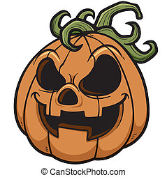 Halloween pumpkin - Vector illustration of Halloween pumpkin
