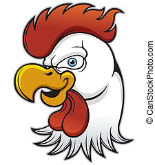 Rooster head - Vector illustration of Rooster head