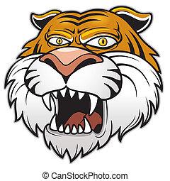 Tiger head - Vector illustration of Tiger head