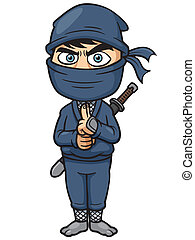 Ninja - Vector illustration of Cartoon Ninja