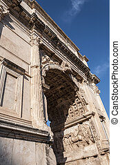 The Arch of Titus - Detail of The Arch of Titus. It is a...