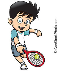 Tennis Player - Vector illustration of Tennis Player