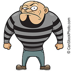 Prisoner - Vector illustration of Cartoon Prisoner