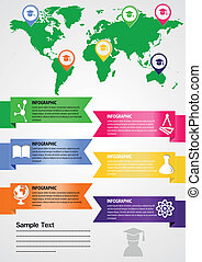 educational institutions on card - Education info graphic...