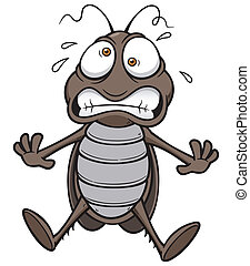 Cockroach - Vector illustration of cartoon cockroach