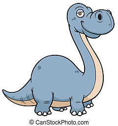Dinosaur - Vector illustration of Dinosaur Cartoon