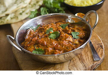 Indian Chicken Balti - Indian chicken balti with pilau rice...