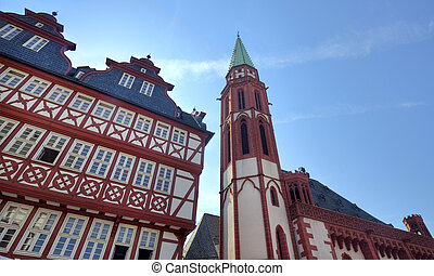 Nikolai Church in Frankfurt - Alte Nikolaikirche and other...