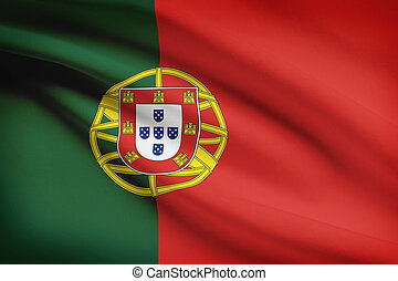 Series of ruffled flags Portuguese Republic - Portuguese...