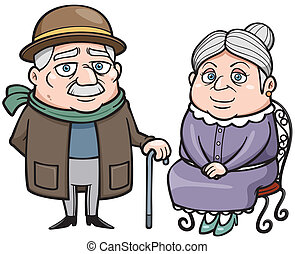 Senior couple - Vector illustration of Senior couple