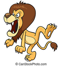 Cartoon lion - Vector illustration of Cartoon lion