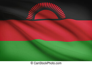 Series of ruffled flags. Republic of Malawi. - Malawian flag...