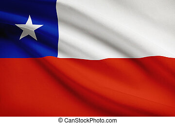 Series of ruffled flags Republic of Chile - Republic of...