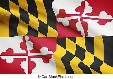 serie, arruffato, bandiere, stato, Maryland