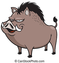 Wild boar - Vector illustration of Wild boar