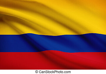 Series of ruffled flags Republic of Colombia - Colombian...