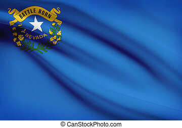 Series of ruffled flags State of Nevada - State of Nevada...