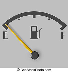 Fuel, gas, oil and all things related - Low fuel sign with...