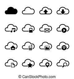 Cloud Storage Icons Set - Cloud Storage Computer Icons Set...