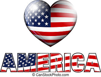 AMERICA Stars and Stripes - STARS and STRIPES HEART with...