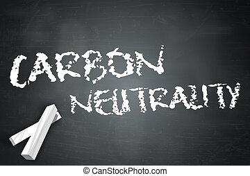 Blackboard Carbon Neutrality - Blackboard with Carbon...