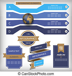 Infographic Elements. World Map and Information Graphics. -...