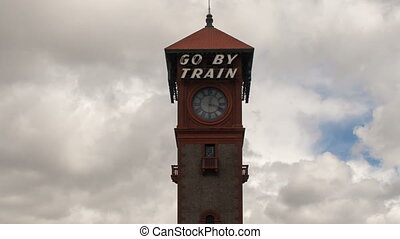 Train Station in Portland OR 1080p - Historic Union Train...