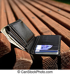 Lost Wallet - Lost wallet left on bench with cash and credit...