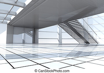 Corporate Architecture - 3D rendered Illustration