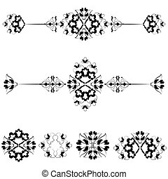 Ottoman motifs design series with s - Versions of Ottoman...