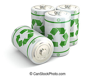 Battery green recycling concept.