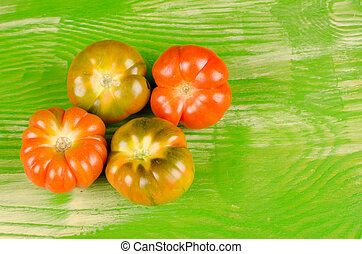 Raf tomatoes - Still life with several  fresh raf tomatoes