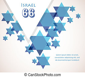 Independence day of Israel. David star background....