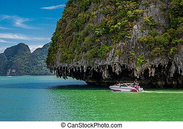 Phang Nga Bay, Thailand - Rock Island from Phang Nga Bay,Ao...