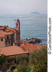 Italian fishing village - View of Mediterranean sea form...