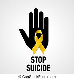 止まれ, 自殺, 印