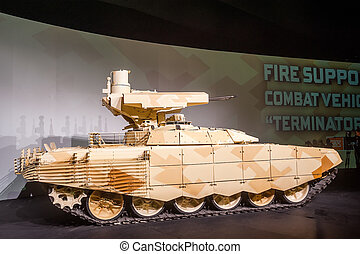 """Tank Support Fighting Vehicle """"BMPT-72"""" from right - Nizhniy..."""