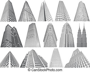 Skyscrapers- vector set