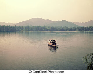 Xihu west lake in hangzhou china