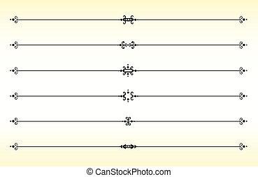 Line Separators - Vintage styled line dividers/separators...