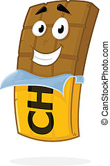 Chocolate Bar - Chocolate bar vector cartoon mascot...