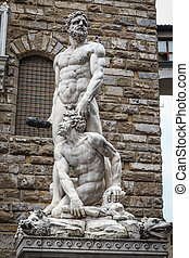 Hercules and Cacus sculpture