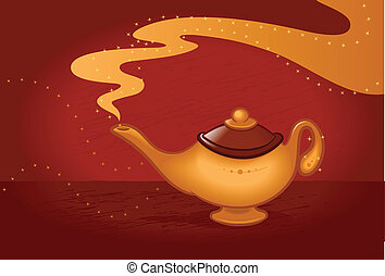 Magic Lamp - Magic lamp vector illustration