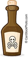 Poison  - Bottle with poison vector cartoon illustration